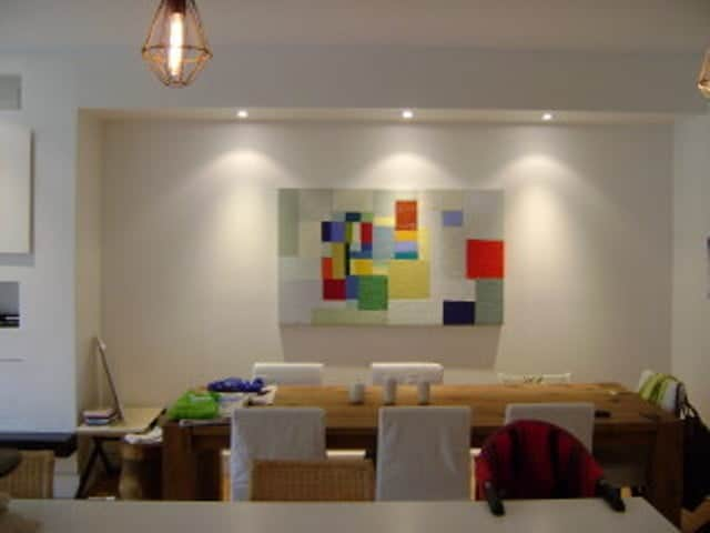 our painters painting a modern dining room in toronto
