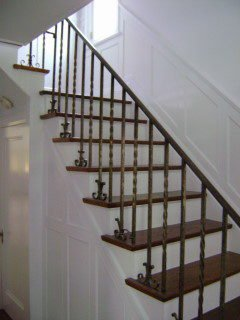 stairwell painted super white