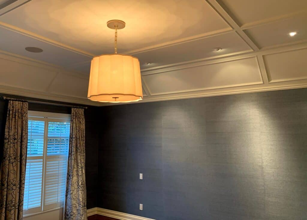 painting coffered ceiling